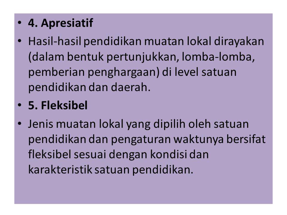 4. Apresiatif