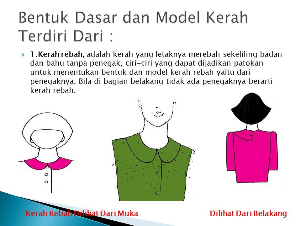 Bentuk Dasar dan Model Kerah Terdiri Dari :
