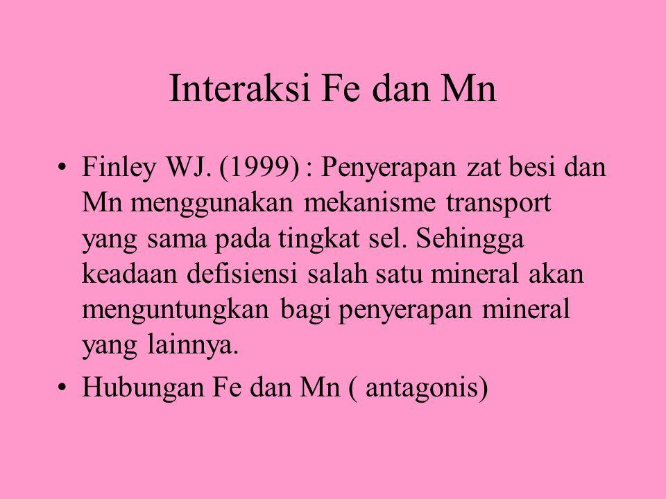 Interaksi Fe dan Mn