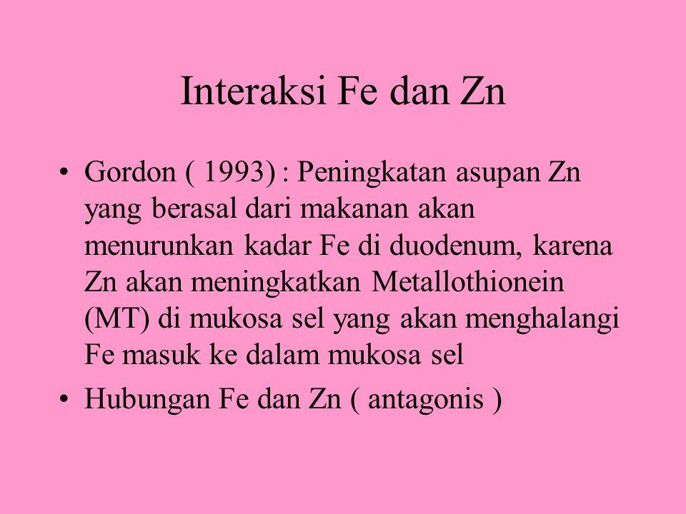 Interaksi Fe dan Zn