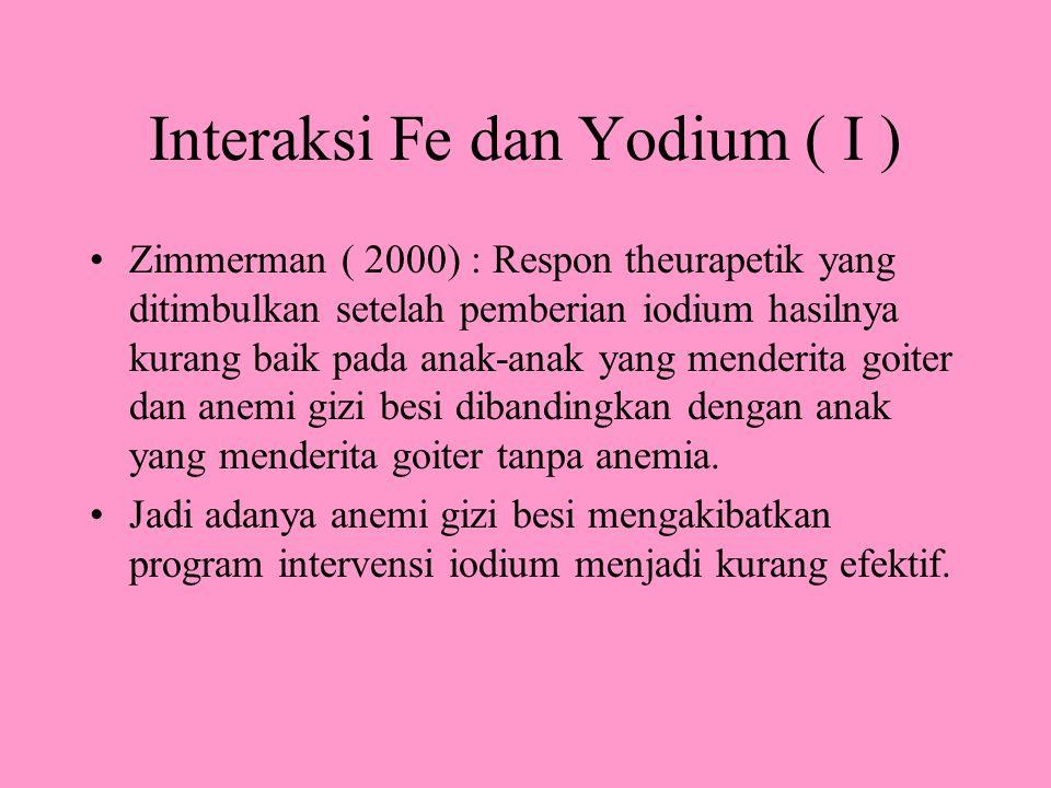 Interaksi Fe dan Yodium ( I )