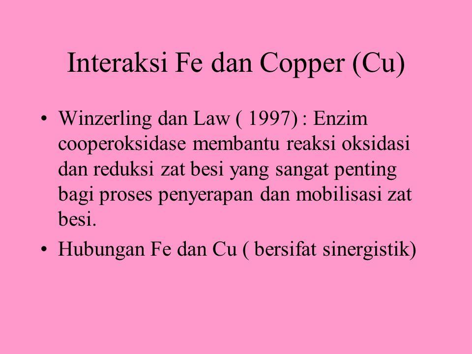 Interaksi Fe dan Copper (Cu)