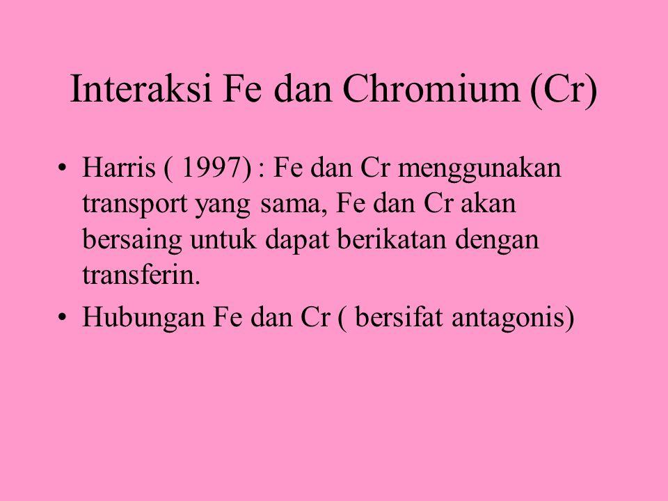 Interaksi Fe dan Chromium (Cr)