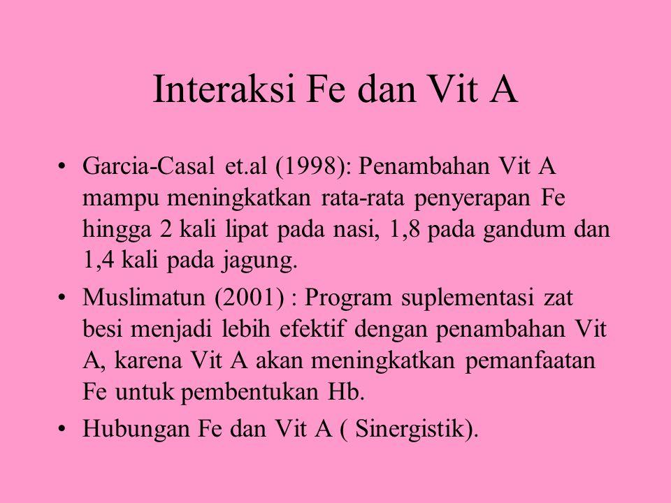 Interaksi Fe dan Vit A