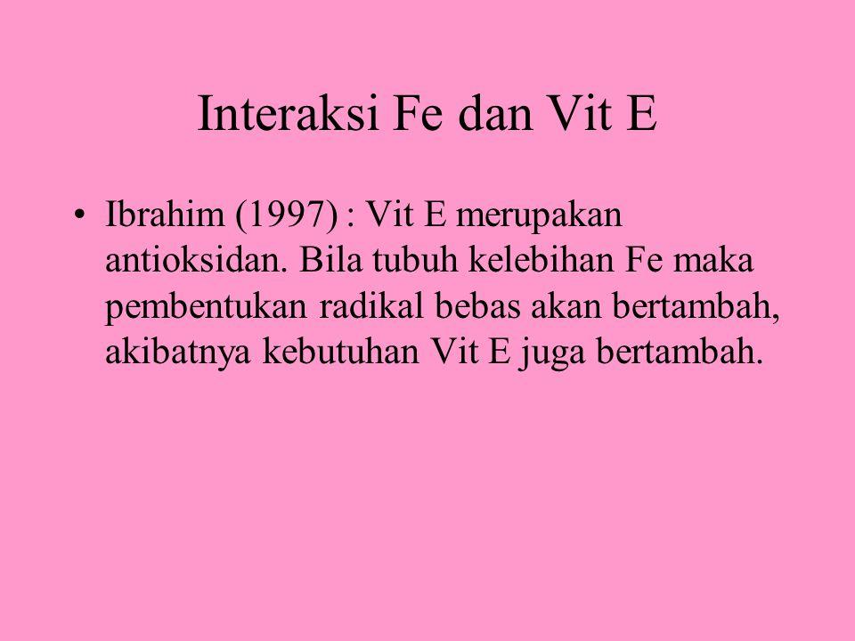 Interaksi Fe dan Vit E
