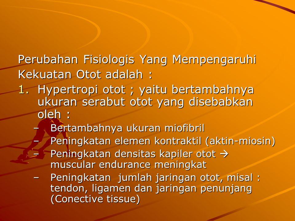 Perubahan Fisiologis Yang Mempengaruhi Kekuatan Otot adalah :