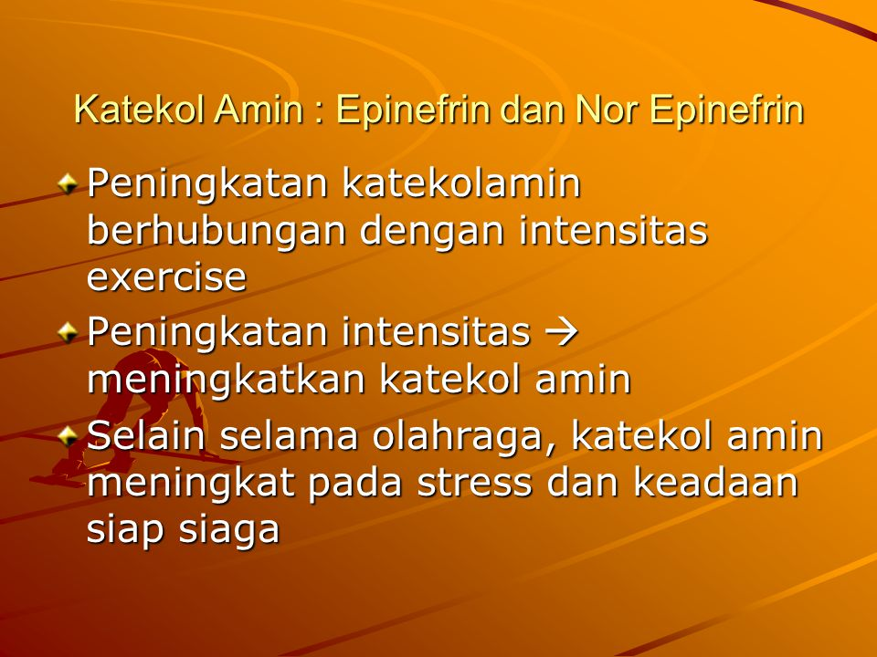 Katekol Amin : Epinefrin dan Nor Epinefrin