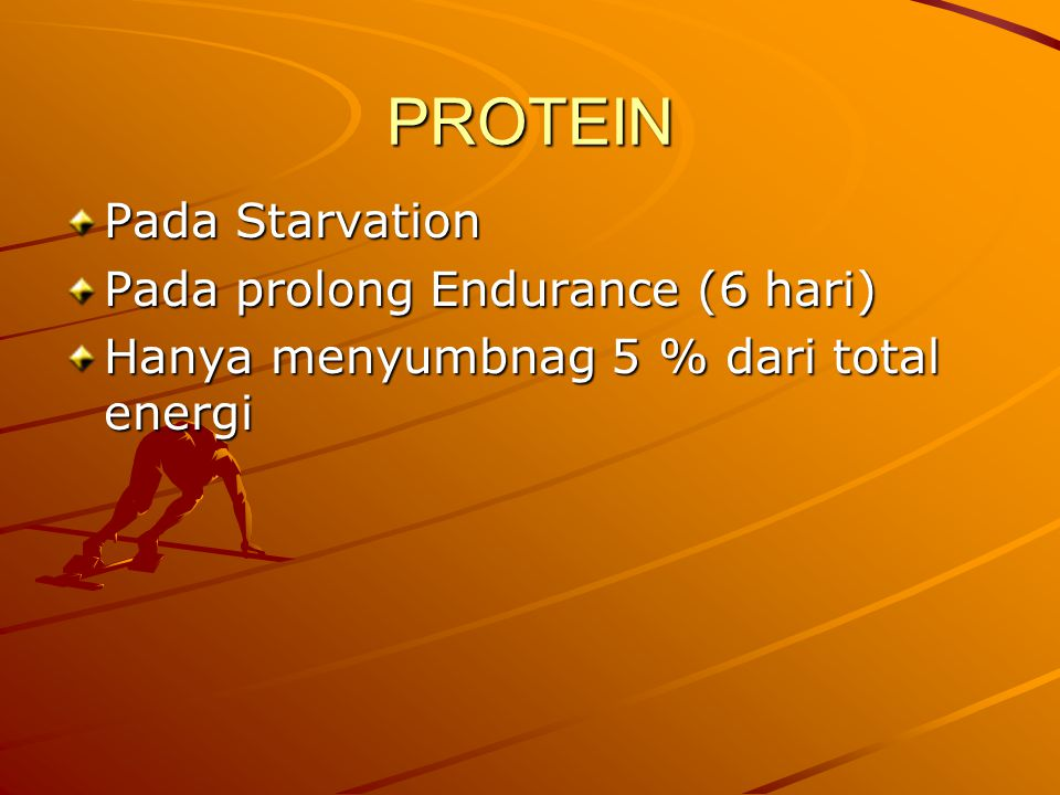 PROTEIN Pada Starvation Pada prolong Endurance (6 hari)