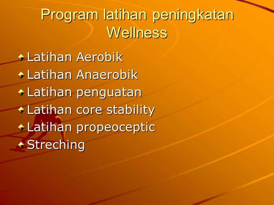 Program latihan peningkatan Wellness