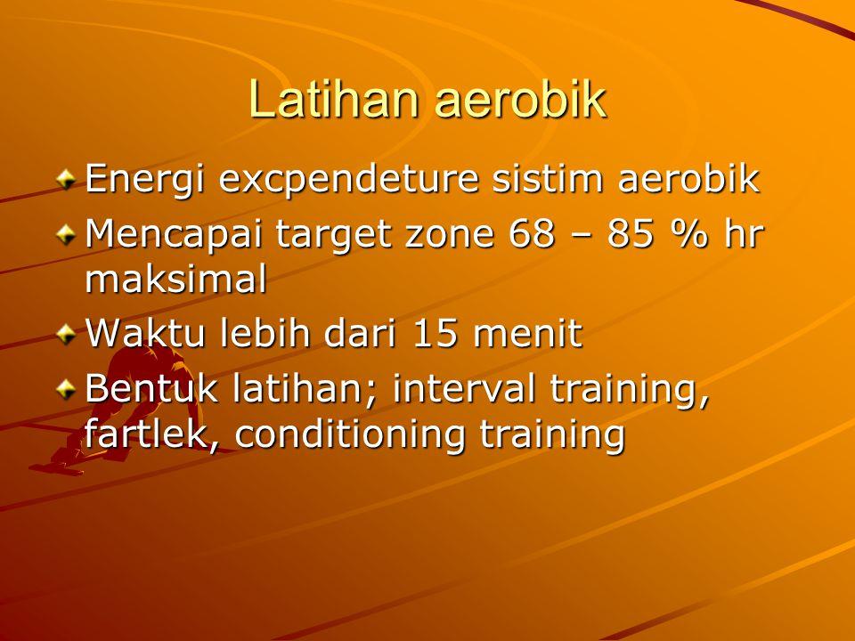 Latihan aerobik Energi excpendeture sistim aerobik