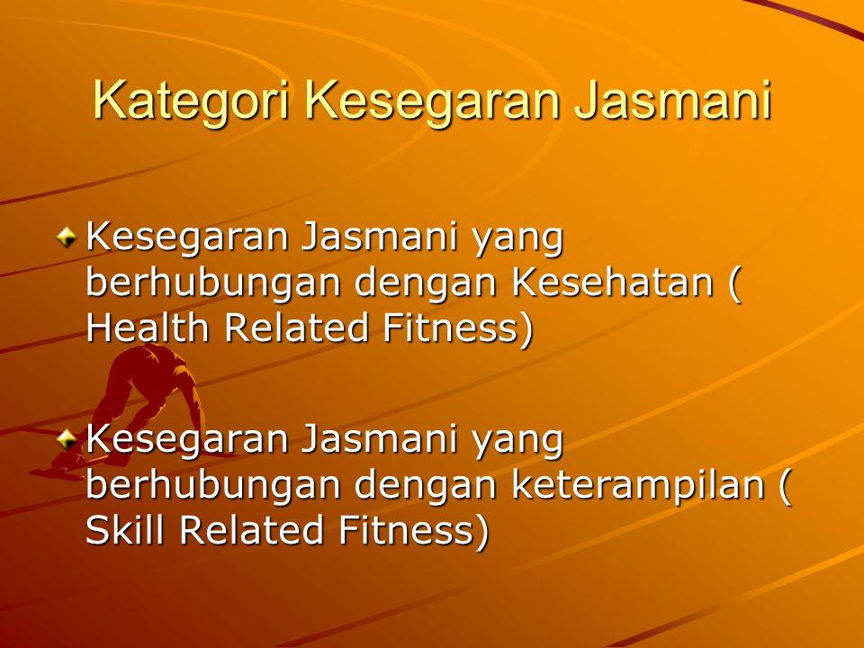 Kategori Kesegaran Jasmani