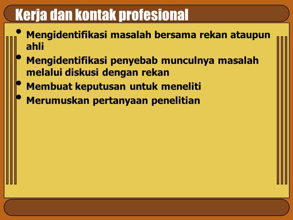 Kerja dan kontak profesional