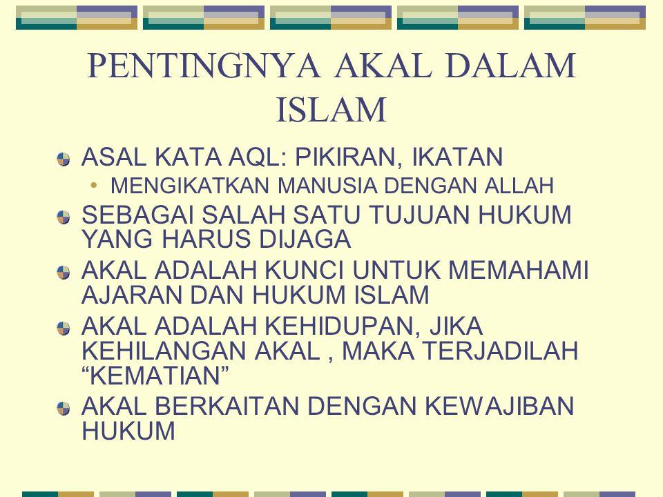 PENTINGNYA AKAL DALAM ISLAM