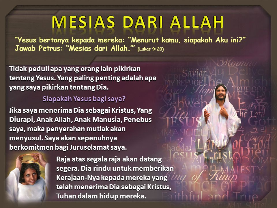 Siapakah Yesus bagi saya