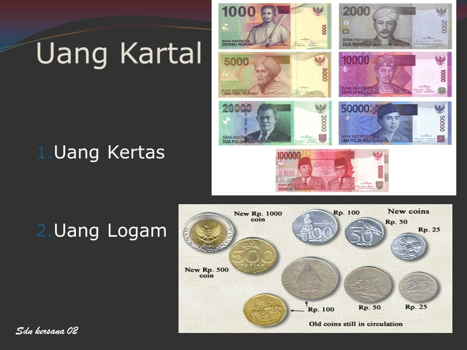 Uang Kartal Uang Kertas Uang Logam Sdn kersana 02
