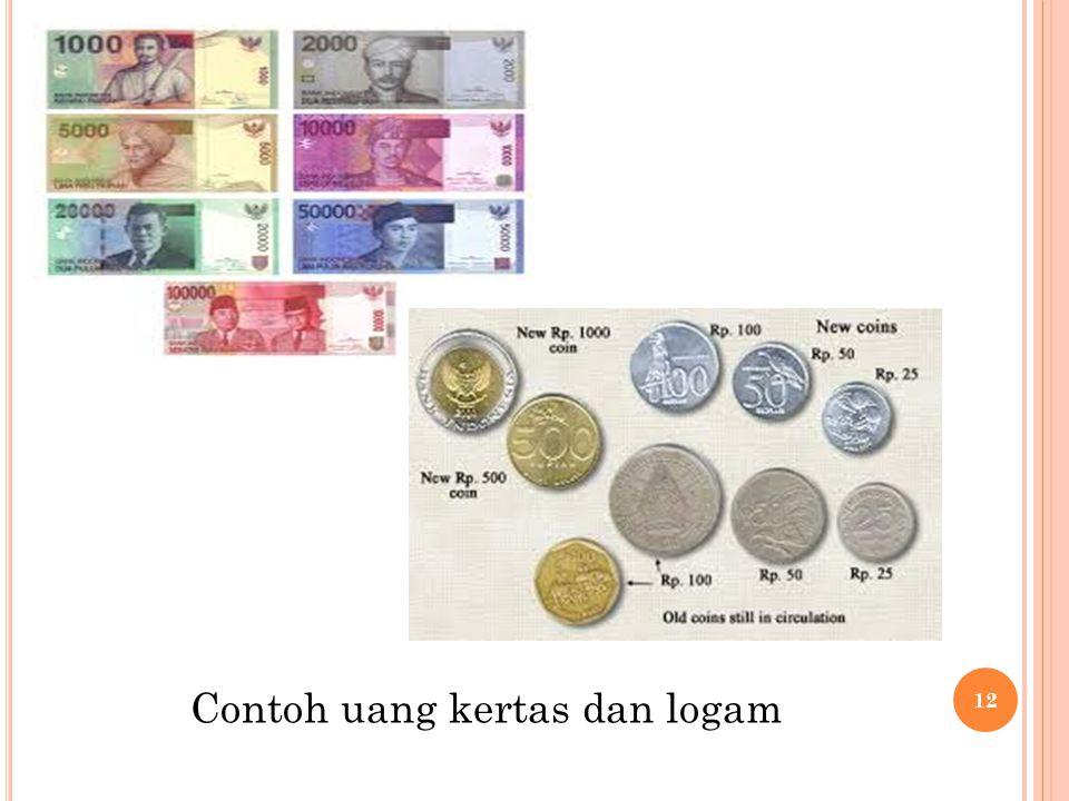 Contoh uang kertas dan logam