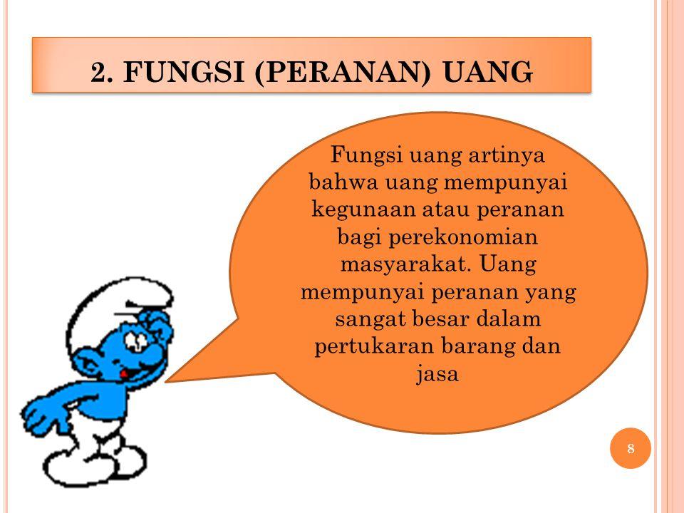2. FUNGSI (PERANAN) UANG