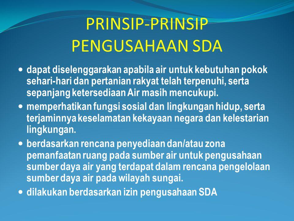 PRINSIP-PRINSIP PENGUSAHAAN SDA