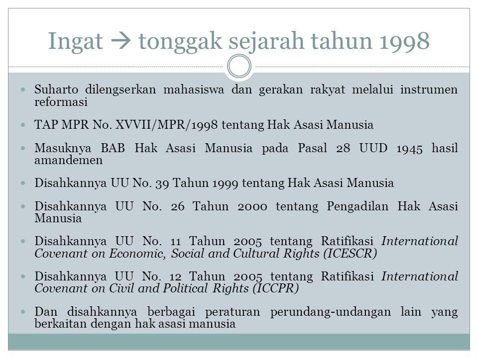 Ingat  tonggak sejarah tahun 1998