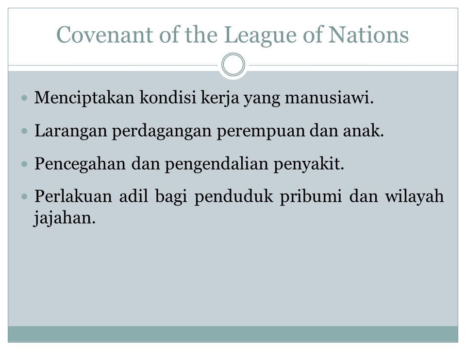 Covenant of the League of Nations