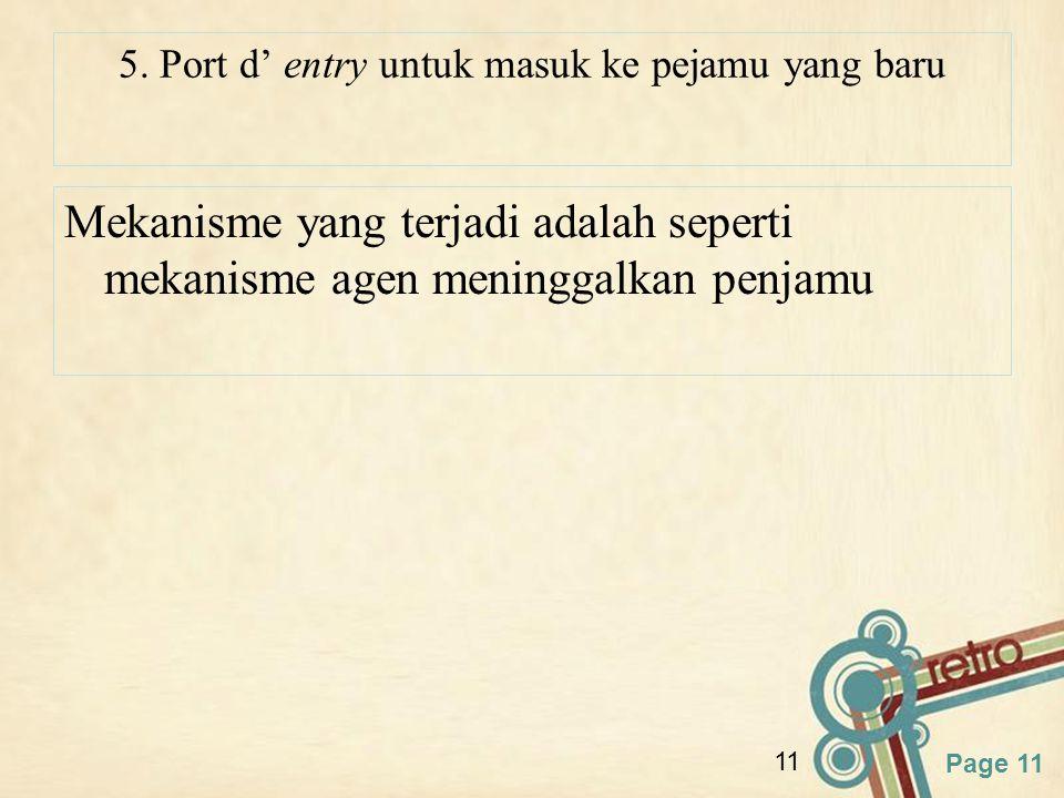 5. Port d' entry untuk masuk ke pejamu yang baru