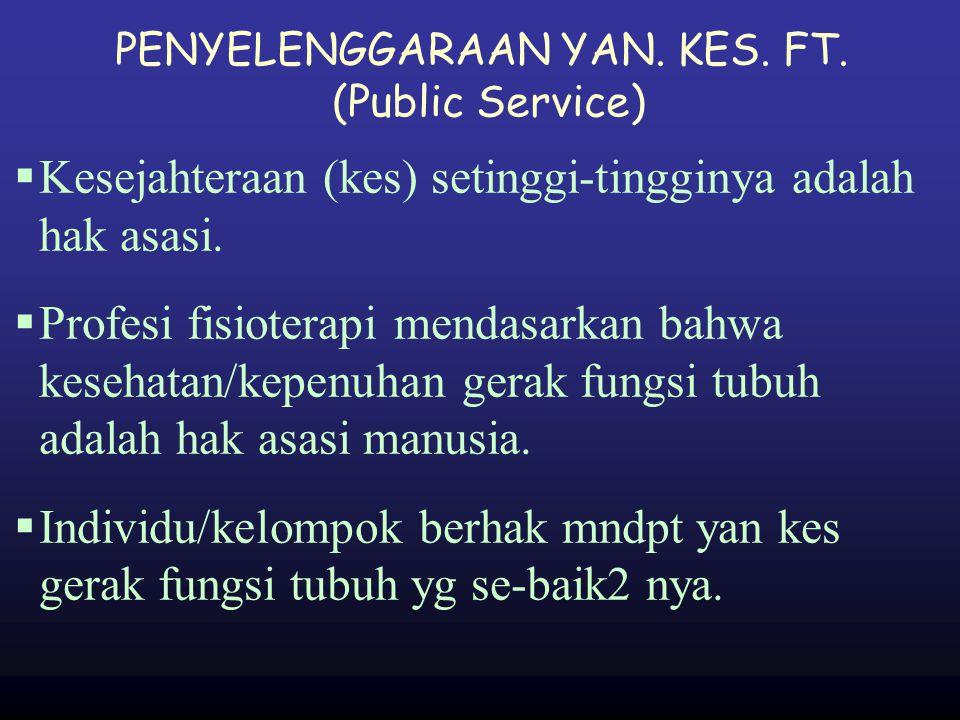 PENYELENGGARAAN YAN. KES. FT. (Public Service)