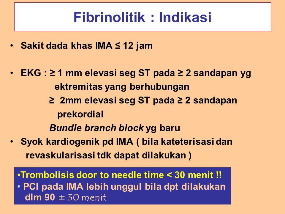 Fibrinolitik : Indikasi