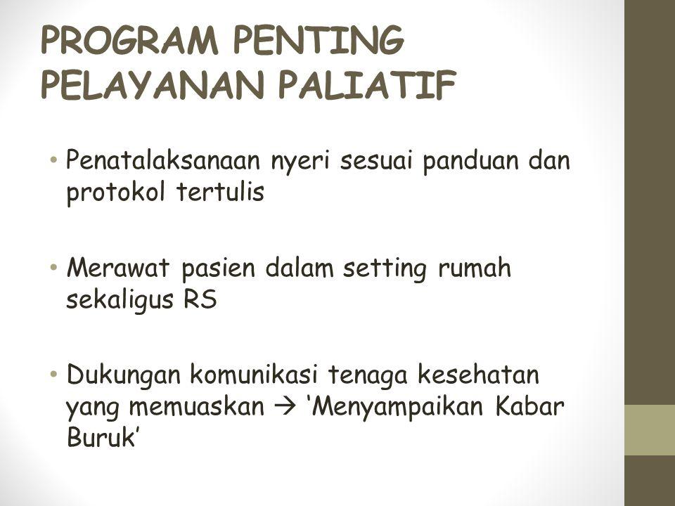 PROGRAM PENTING PELAYANAN PALIATIF