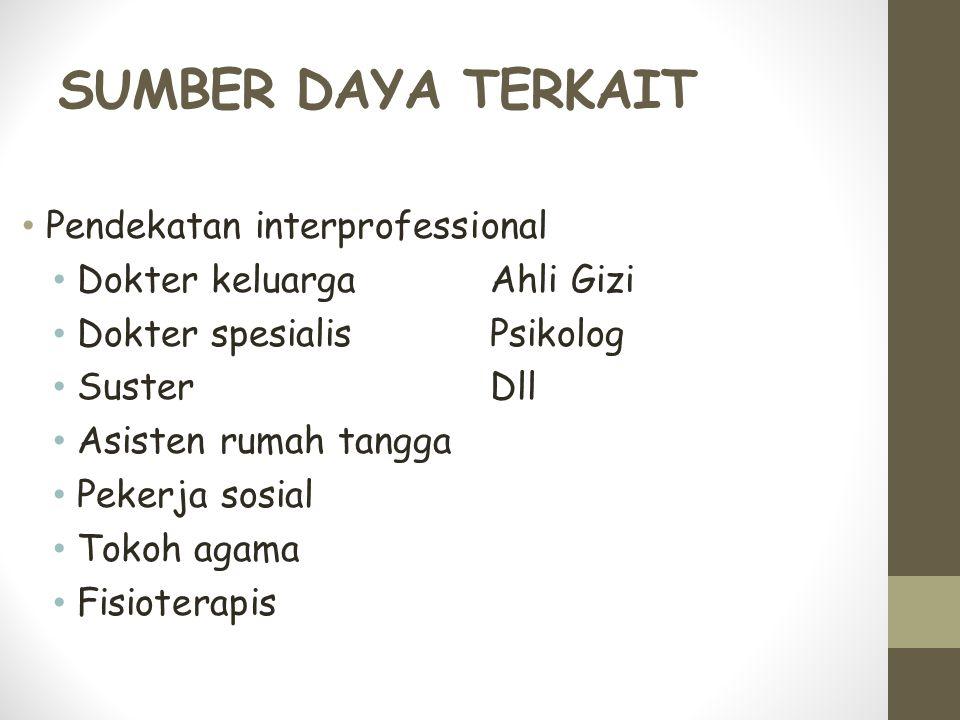 SUMBER DAYA TERKAIT Pendekatan interprofessional