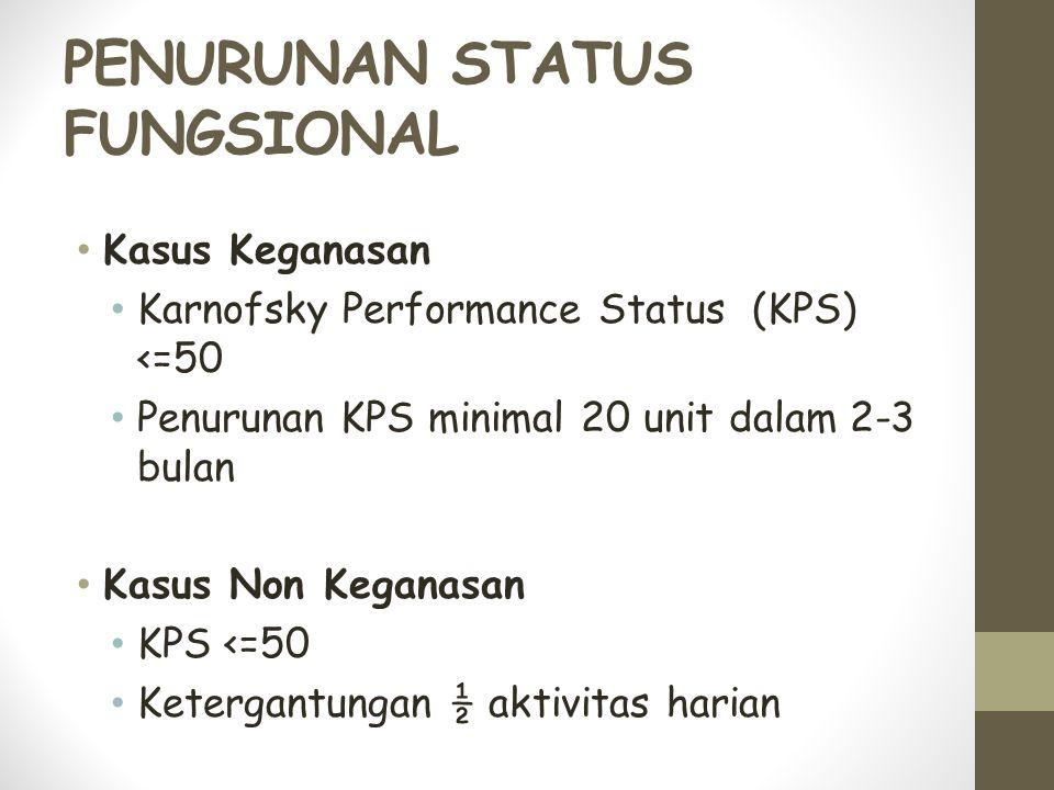 PENURUNAN STATUS FUNGSIONAL