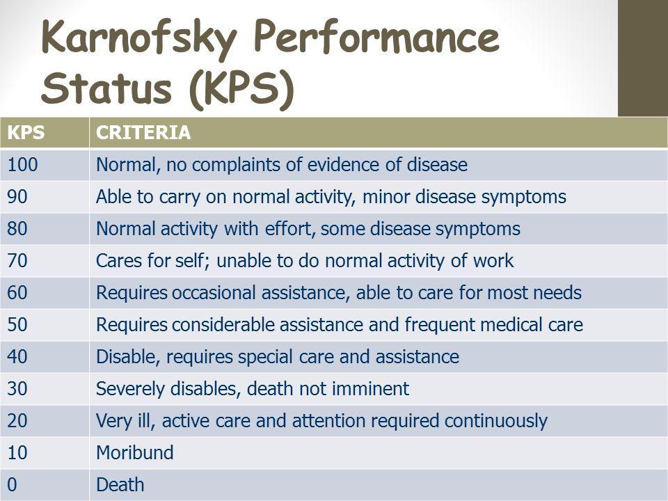 Karnofsky Performance Status (KPS)