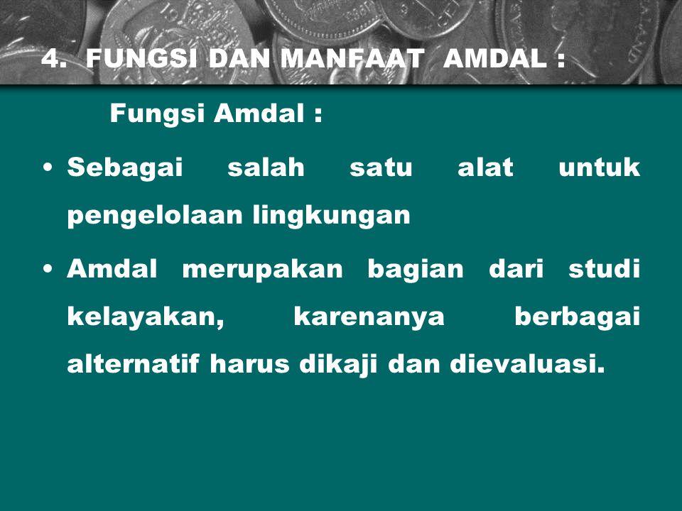 4. FUNGSI DAN MANFAAT AMDAL :
