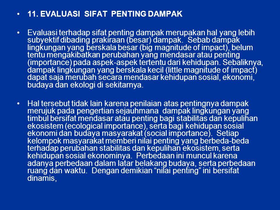 11. EVALUASI SIFAT PENTING DAMPAK