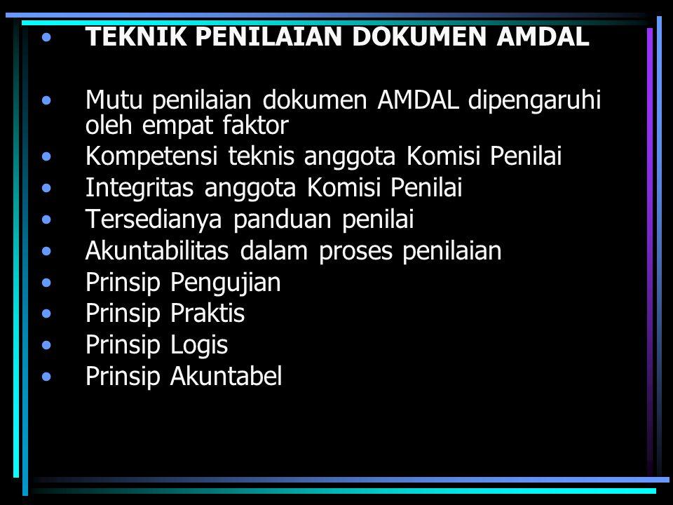 TEKNIK PENILAIAN DOKUMEN AMDAL