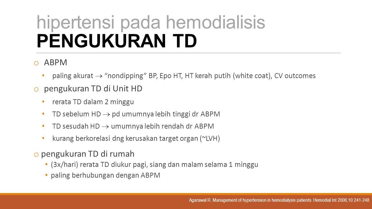 hipertensi pada hemodialisis PENGUKURAN TD