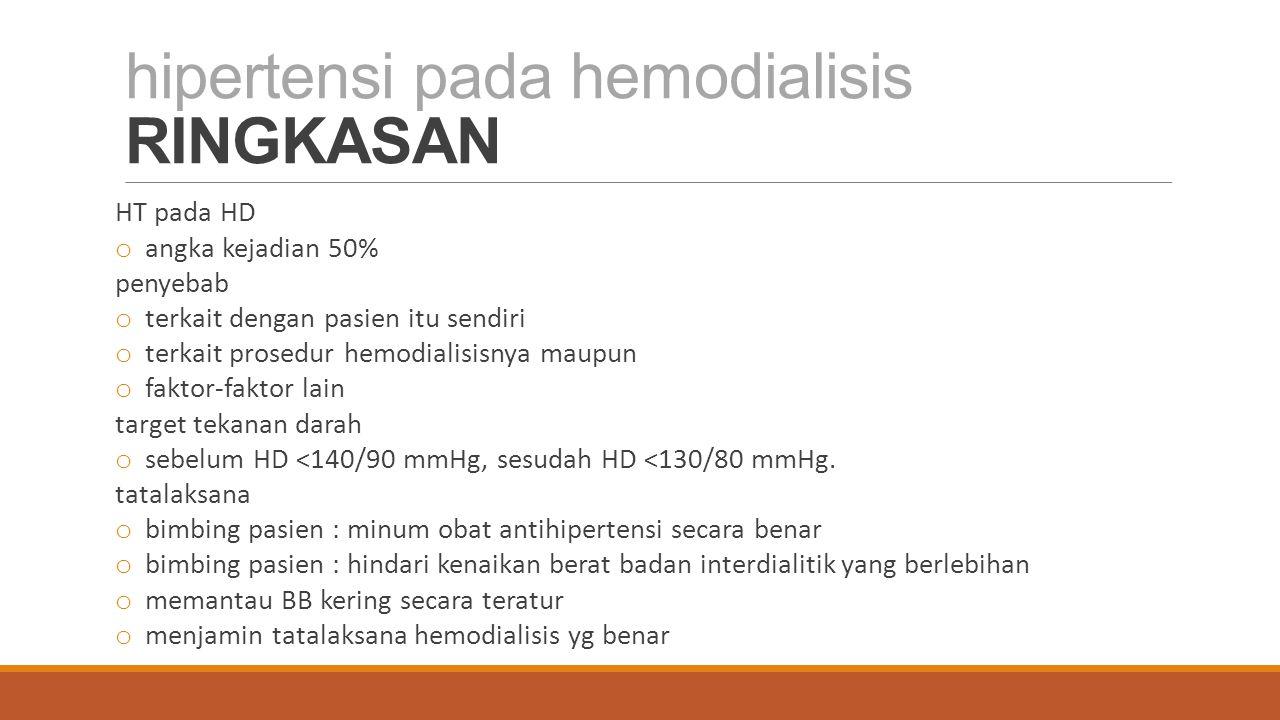 hipertensi pada hemodialisis RINGKASAN