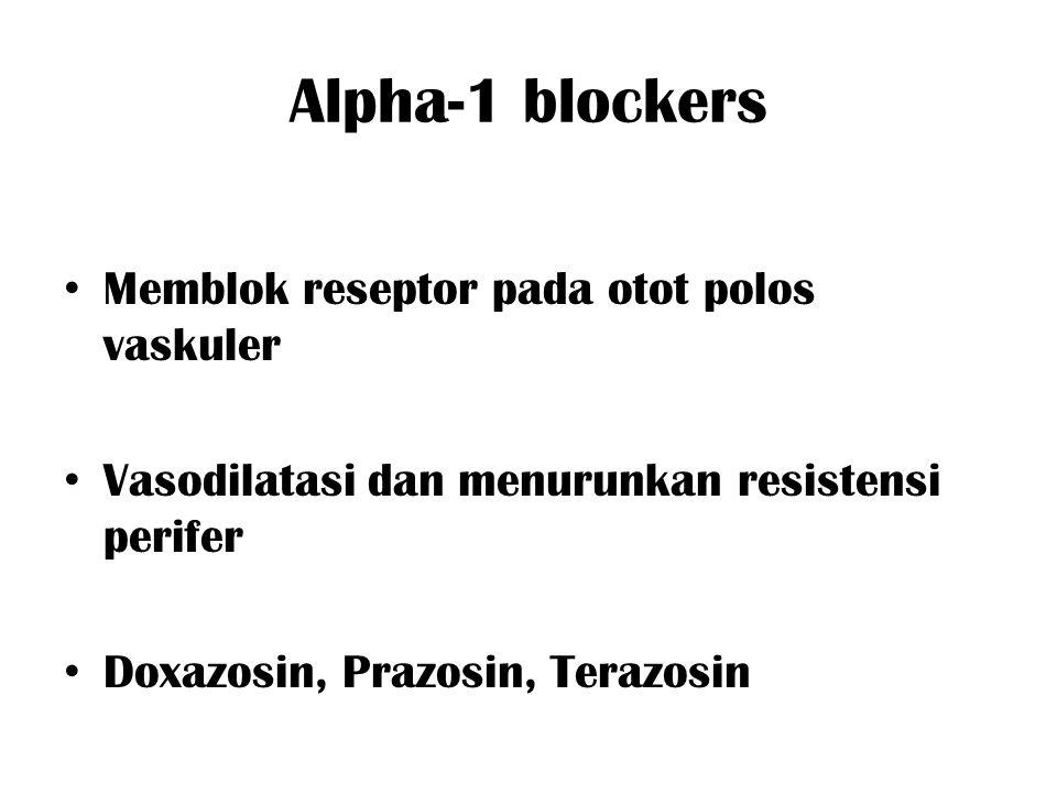 Alpha-1 blockers Memblok reseptor pada otot polos vaskuler