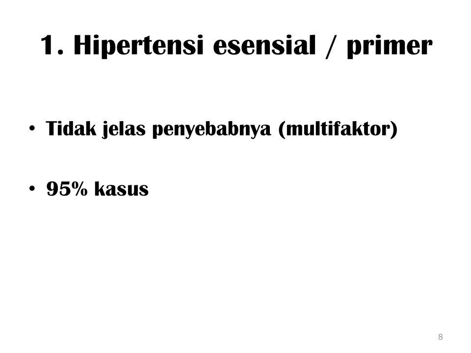 1. Hipertensi esensial / primer