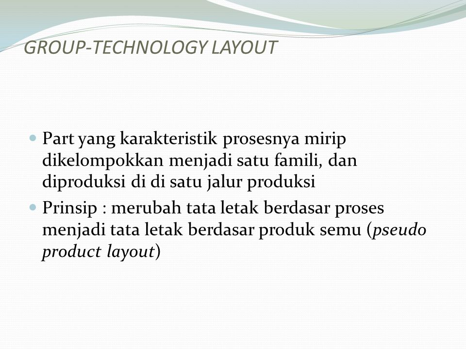 Group-Technology Layout