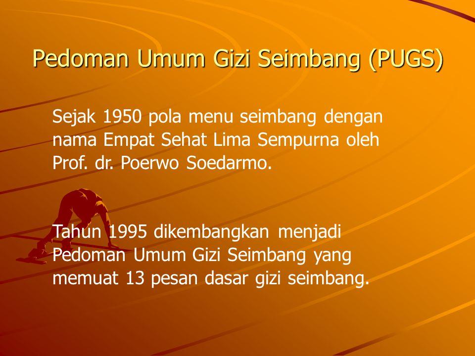 Pedoman Umum Gizi Seimbang (PUGS)