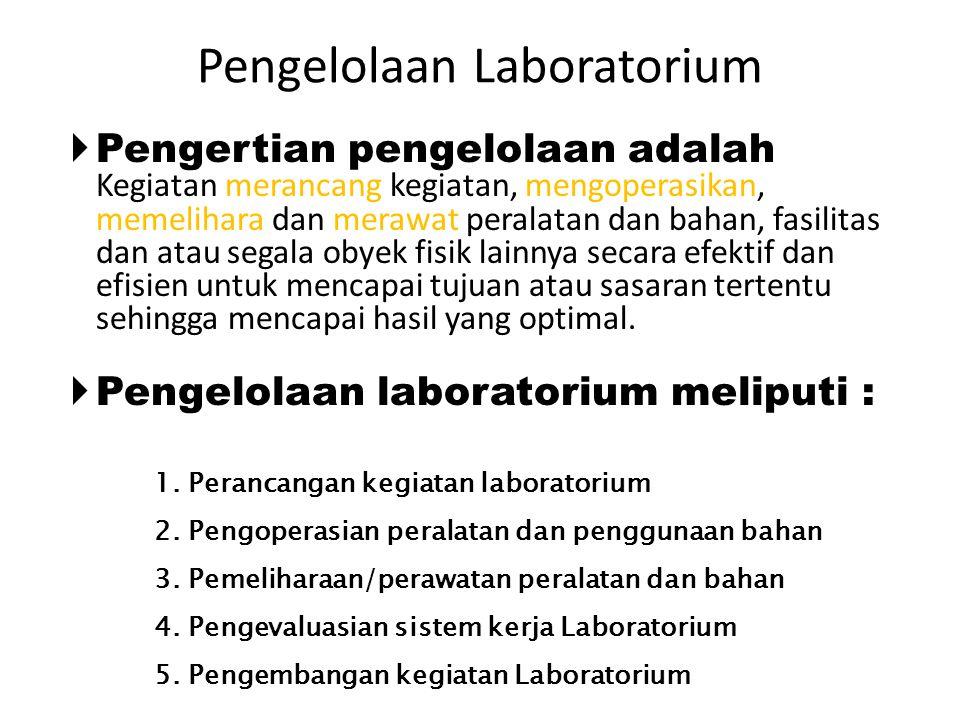 Pengelolaan Laboratorium
