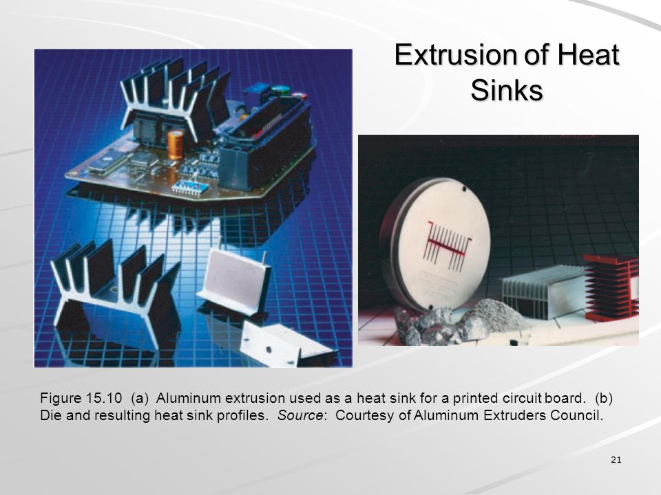 Extrusion of Heat Sinks