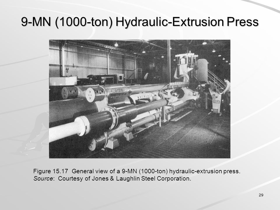 9-MN (1000-ton) Hydraulic-Extrusion Press