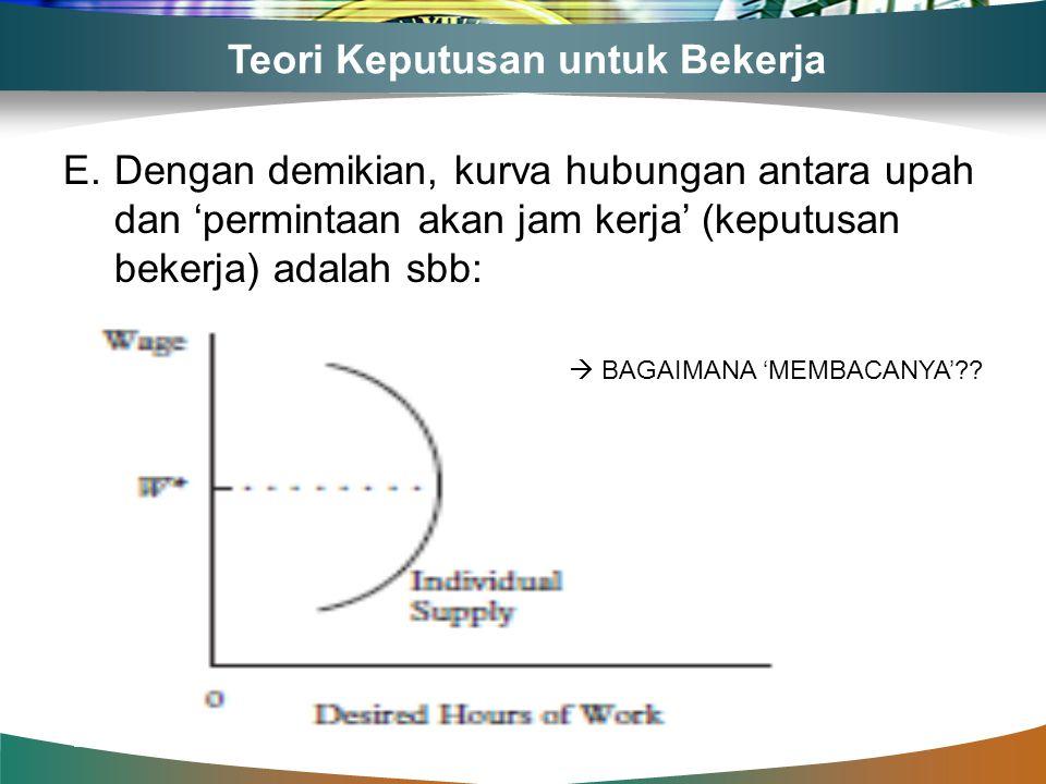 Teori Keputusan untuk Bekerja