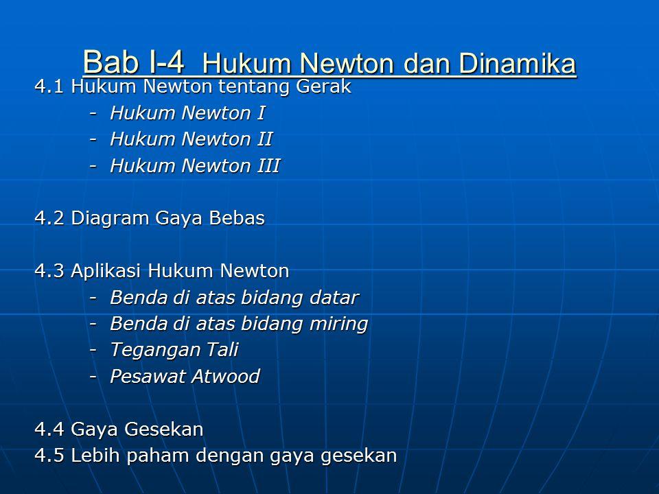Bab I-4 Hukum Newton dan Dinamika