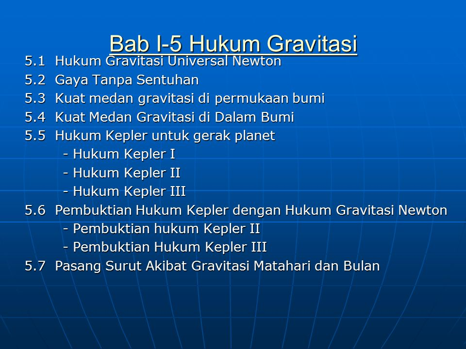 Bab I-5 Hukum Gravitasi