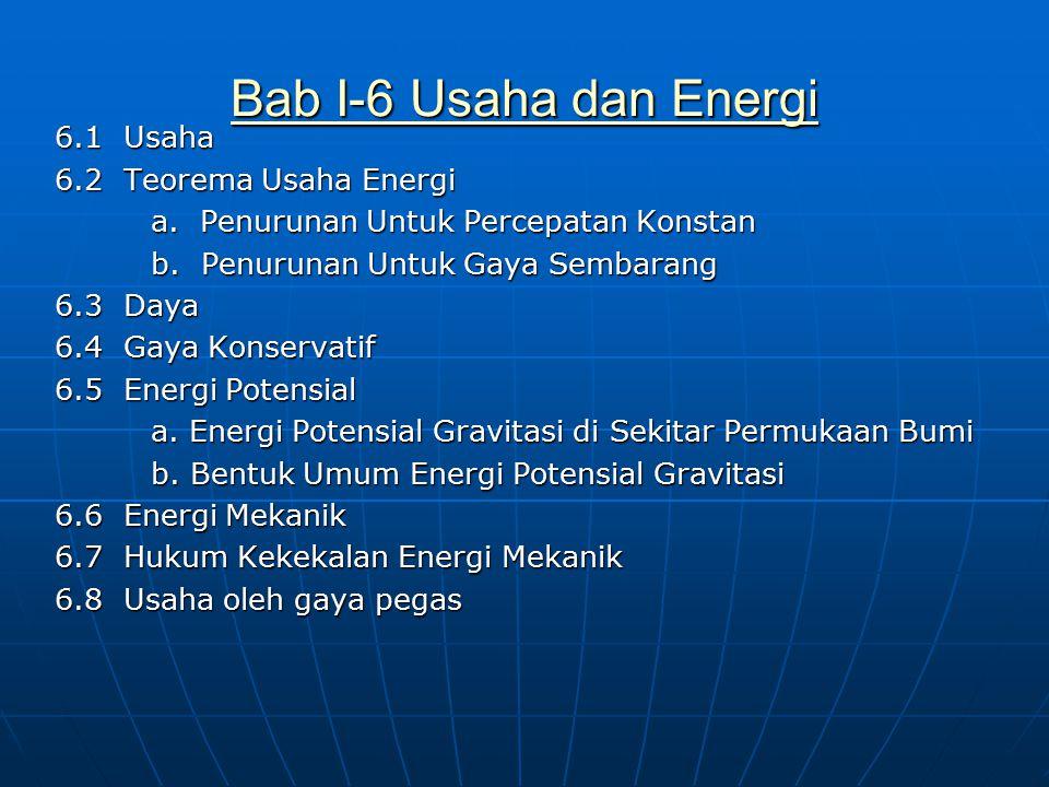 Bab I-6 Usaha dan Energi
