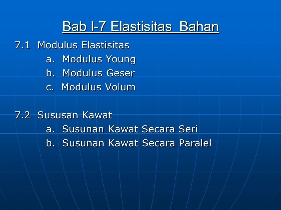 Bab I-7 Elastisitas Bahan