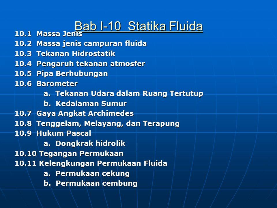 Bab I-10 Statika Fluida
