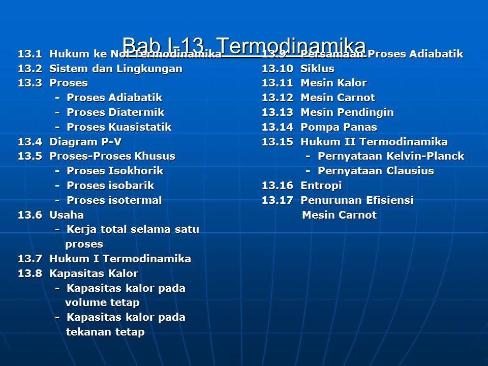 Bab I-13 Termodinamika